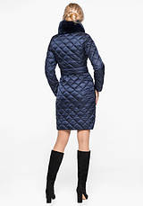 Воздуховик Braggart Angel's Fluff 31030   Теплая женская куртка синий бархат, фото 3