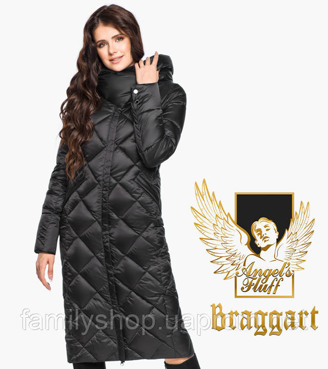 Воздуховик Braggart Angel's Fluff 31031   Женская длинная куртка черная