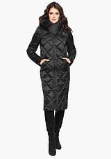 Воздуховик Braggart Angel's Fluff 31031 | Женская длинная куртка черная, фото 2