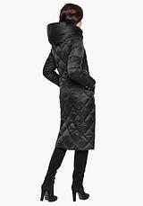 Воздуховик Braggart Angel's Fluff 31031 | Женская длинная куртка черная, фото 3