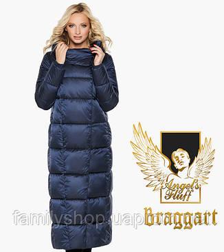 Воздуховик Braggart Angel's Fluff 31056 | Длинная женская куртка синий бархат, фото 2