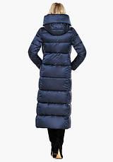Воздуховик Braggart Angel's Fluff 31056 | Длинная женская куртка синий бархат, фото 3