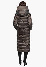 Воздуховик Braggart Angel's Fluff 31058 | Длинная женская куртка капучино, фото 3