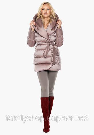Воздуховик Braggart Angel's Fluff 31064 | Теплая женская куртка пудра, фото 2