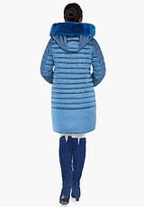 Воздуховик Braggart Angel's Fluff 31038 | Зимняя куртка женская аквамариновая, фото 3