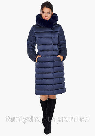 Воздуховик Braggart Angel's Fluff 31094 | Куртка зимняя женская синяя, фото 2