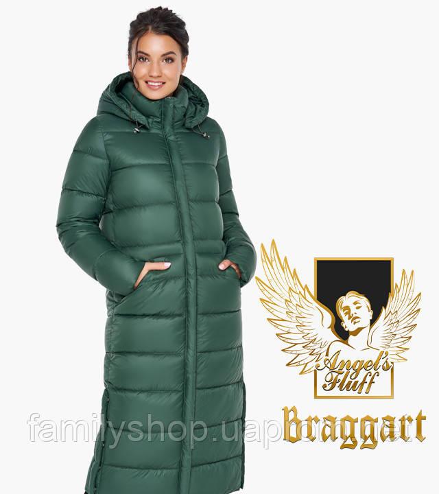 Воздуховик Braggart Angel's Fluff 31007 | Зимняя женская куртка нефритовая
