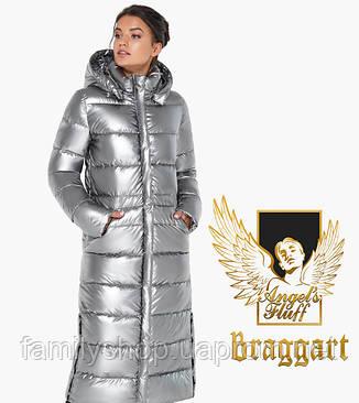 Воздуховик Braggart Angel's Fluff 31007   Женская зимняя куртка серебро, фото 2