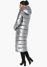 Воздуховик Braggart Angel's Fluff 31007   Женская зимняя куртка серебро, фото 3