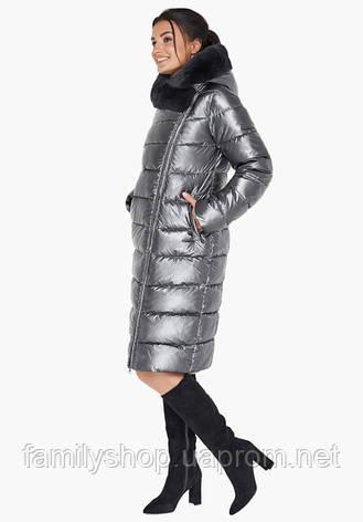 Воздуховик Braggart Angel's Fluff 31049   Женская зимняя куртка темное серебро, фото 2