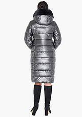 Воздуховик Braggart Angel's Fluff 31049   Женская зимняя куртка темное серебро, фото 3