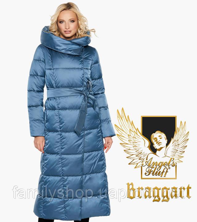 Воздуховик Braggart Angel's Fluff 31056-2 | Зимняя женская куртка аквамариновая