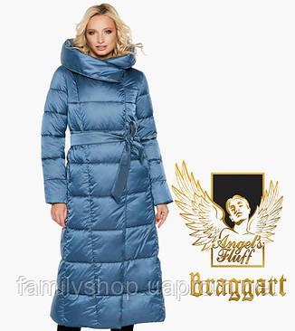 Воздуховик Braggart Angel's Fluff 31056-2 | Зимняя женская куртка аквамариновая, фото 2