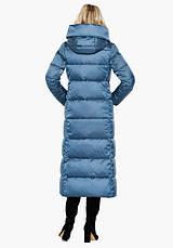 Воздуховик Braggart Angel's Fluff 31056-2 | Зимняя женская куртка аквамариновая, фото 3