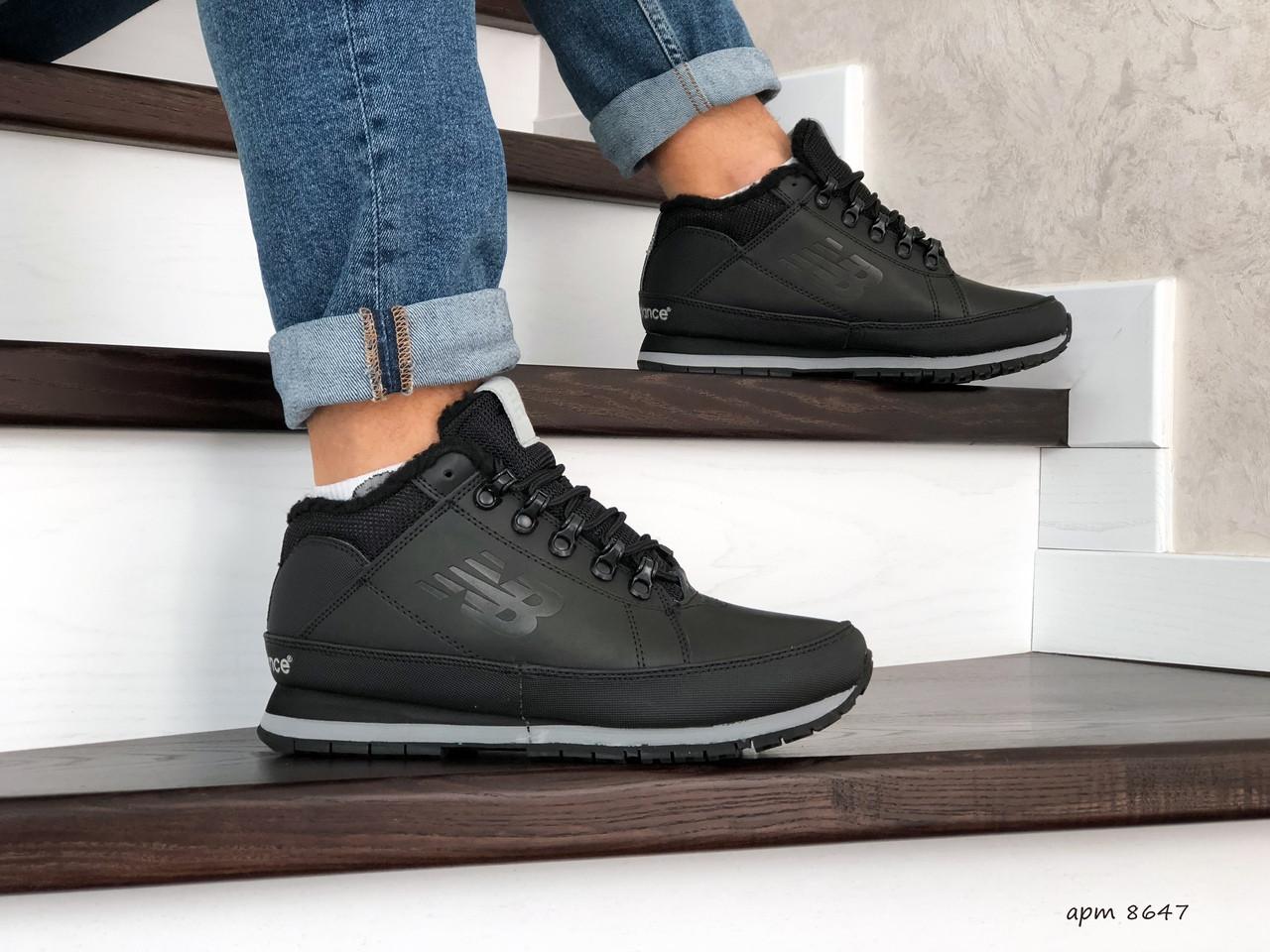 Мужские зимние кроссовки New Balance 754,черные 44р