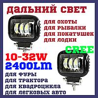 Дополнительные светодиодные фары с линзами LED Cyclone WL-F1B 30W