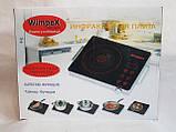 Електроплита Wimpeх WX 1324 інфрачервона, настільна на 1 комфорки 2000W, фото 2