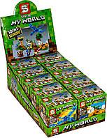 Майнкрафт Набор 10 в 1 конструкторов лего, Lego Minecraft My world 10 в 1 SY6198