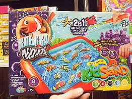 """Большая настольная игра Danko Toys """"2 в 1: """"Клевая рыбалка и """"Кинетический песок Kidsand"""" (8103, KRKS-01-01U)"""