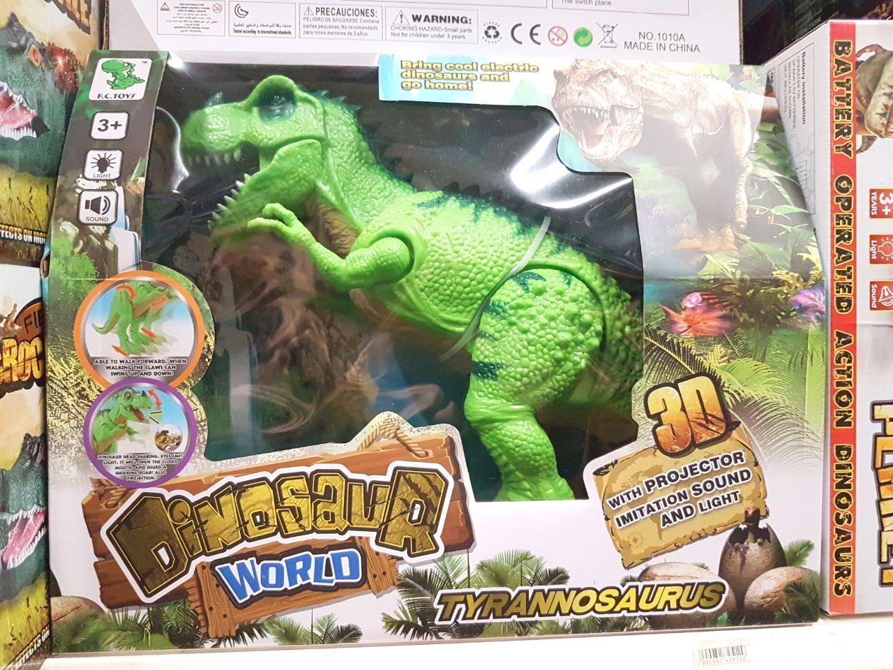 Динозавр 1010 А с проектором, ходит, светятся глаза, звук