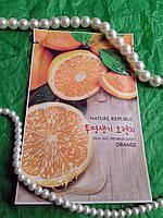 Тканевая маска для лица с экстрактом апельсина Nature Republic Real Nature Mask Sheet 23 гр