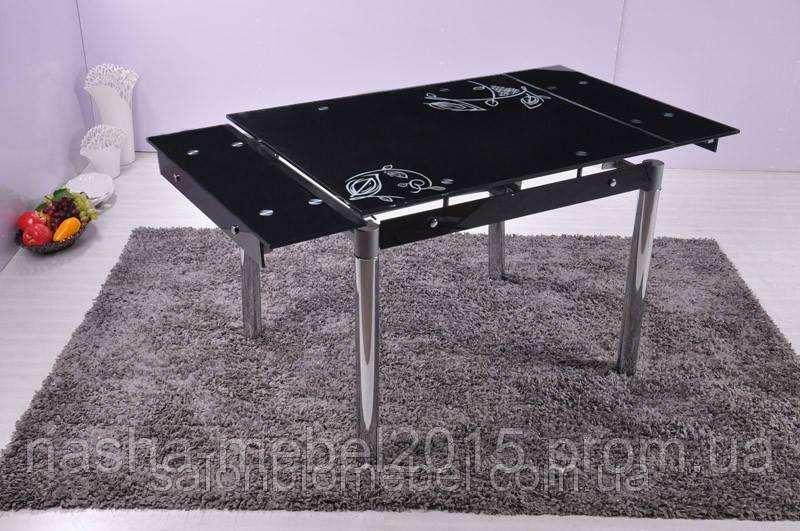 Стеклянный Стол обеденный Марсель черный
