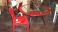 Стол обеденный из стекла Люси