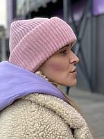 Шапка в'язана SNx16 рожева, фото 1