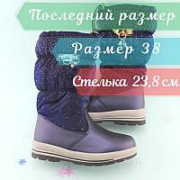 Сині зимові чобітки підліткові на дівчинку Тому.м розмір 38, фото 1