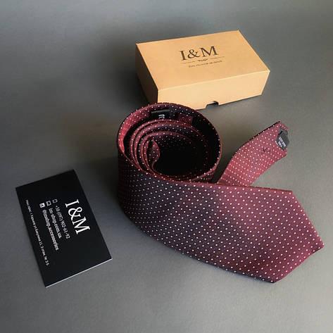 Галстук I&M Craft бордовый в точку (020332), фото 2