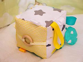 Бизикубик для детей развивающий ручной работы мягкий 5