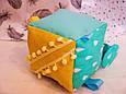 Бизикубик для детей развивающий ручной работы мягкий 5, фото 3