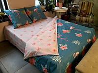 Постельное белье Luxyart Дуэт 26, размер двуспальный, сатин (LН-023)