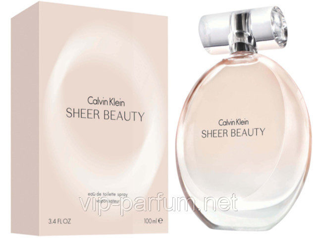 Calvin Klein Sheer Beauty туалетная вода 100 ml. (Кельвин Кляйн Шеер Бьюти), фото 1
