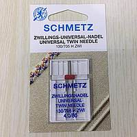 Голка SCHMETZ 130/705H ZWI NE 4,0 № 80, подвійна (1шт/уп)