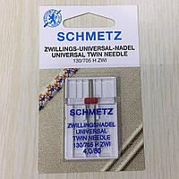 Игла SCHMETZ 130/705H ZWI NE 4,0 №  80, двойная (1шт/уп)
