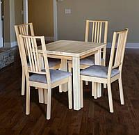 Стол обеденный деревянный Смарт-2 бук натуральный
