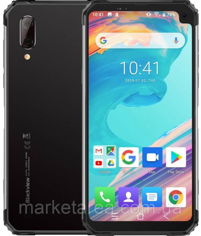 Смартфон с двойной камерой и хорошей функцией нфс на 2 симки Blackview BV6100 Silver 3/16 гб EU