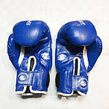 Боксерські рукавички LEV SPORT 8 унцій (синій), фото 3