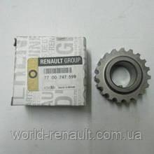 Шестерня(шкив) коленвала привода ГРМ на Рено Кангу K7M 1.6i 8V / Renault (Original) 7700747599