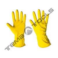Перчатки хозяйственные латексные (S, M, L, XI)