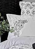 Набор Постельное белье с пледом Евро Brave silver Karaca Home, фото 4