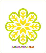Трафарет + формочка-вырубка для пряников Снежинка №25