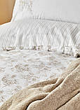 Набор Постельное белье с пледом Евро Brave gold Karaca Home, фото 2