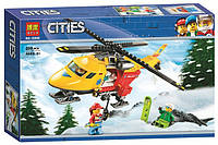 """Конструктор Bela (аналог Lego City) """"Вертолет скорой помощи"""", 208 деталей"""