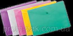 Папка конверт на кнопке А4 BUROMAX, ассорти
