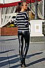 Женский чёрный свитер в полоску, р.42-48, вязка, фото 4
