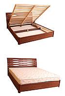 Деревянная Кровать двухспальная Мария с подъемной рамой 1,8м
