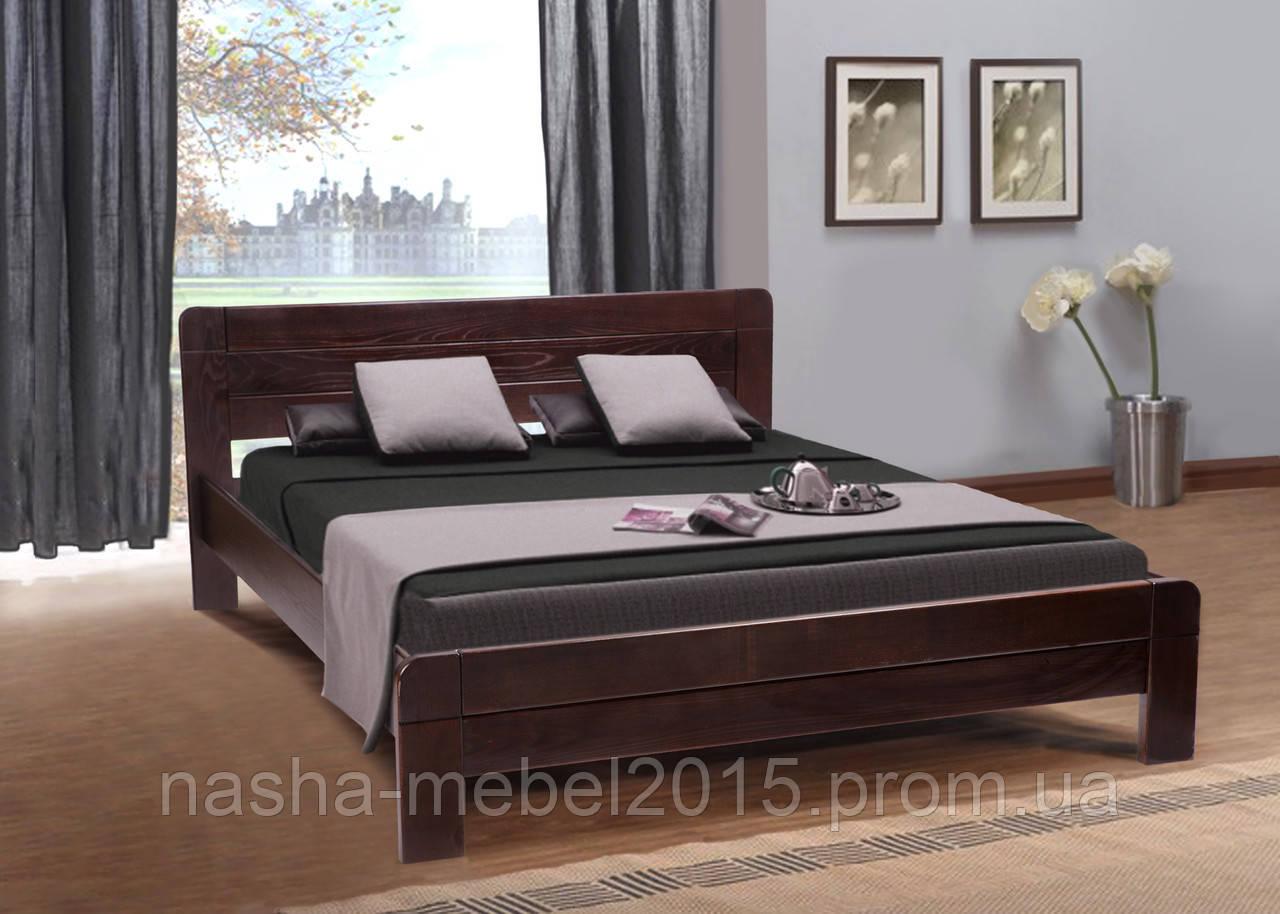 Деревянная Кровать двуспальная Сабрина 1,6м ясень