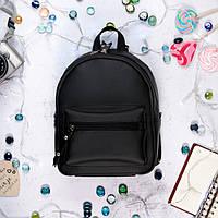 Женский рюкзак Tilary мини черный, эко-кожа